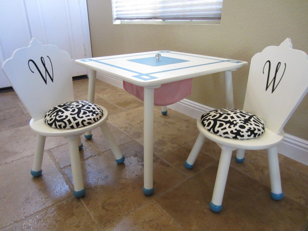 Table and Chairs with Storage After