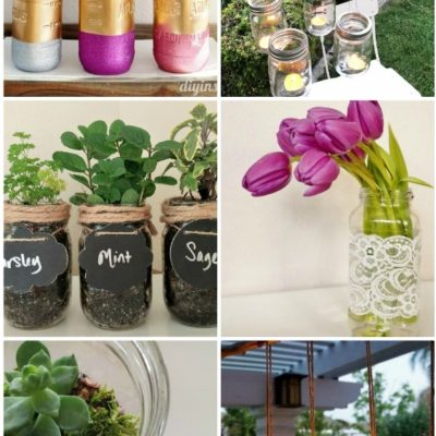 Recycle Glass Bottles and Jars for Crafts