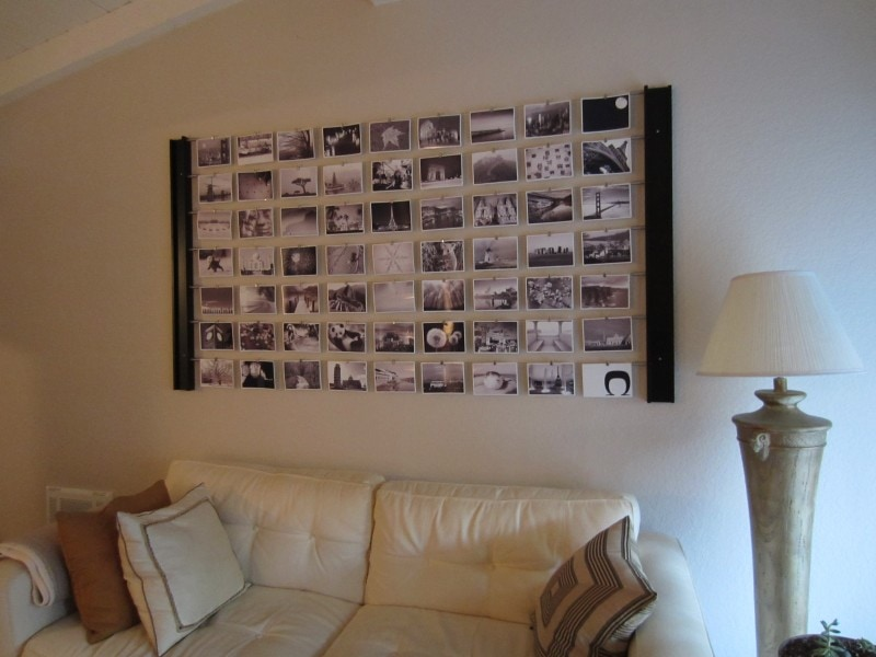 Diy photo wall d cor idea for Diy wall mural ideas