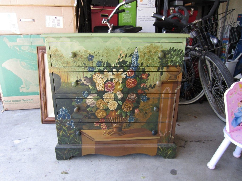 How to Paint  Dresser Before