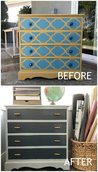 Dresser Furniture MakeoverBefore and After
