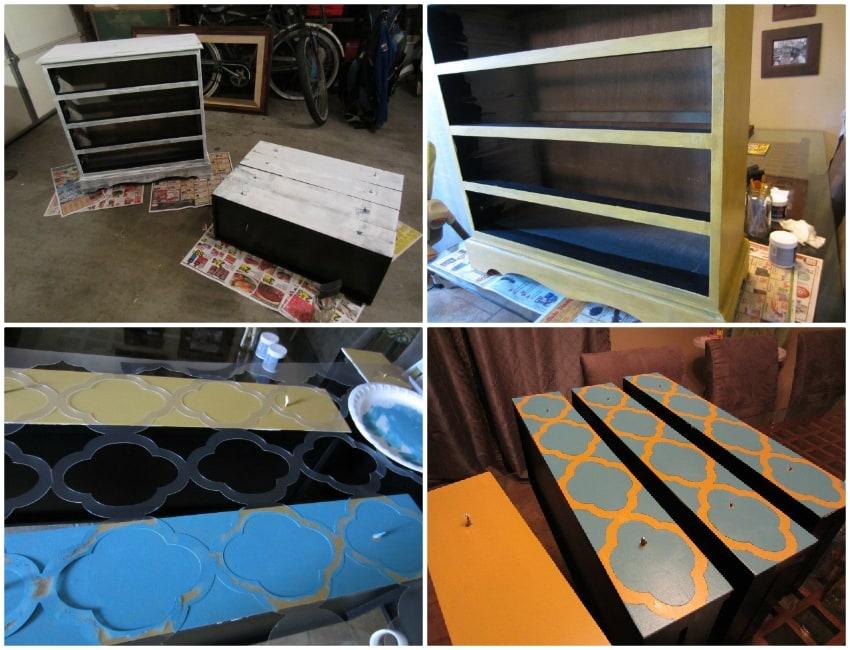 How to Stencil a Dresser
