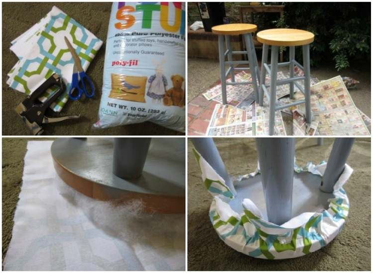 Bar Stool Upcycling Idea