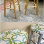 Upcycle Boring Wooden Bar Stools