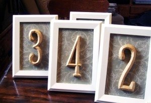 DIY Table Number Ideas