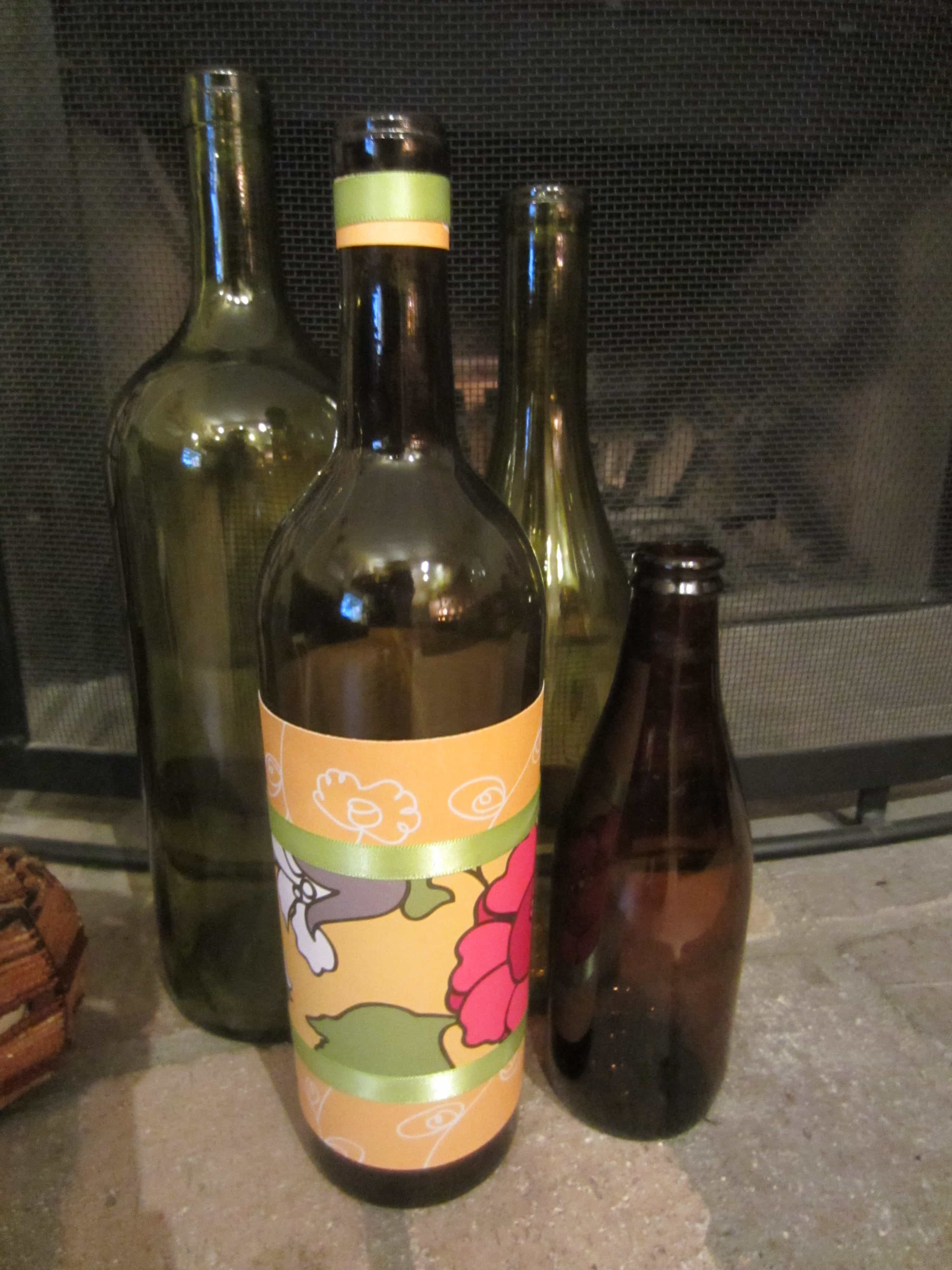 Trash to Treasure: Recycled Beer and Wine Bottles