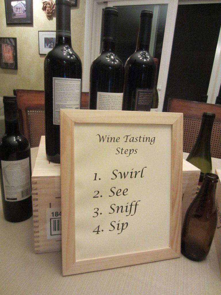 Wine Tasting Rules
