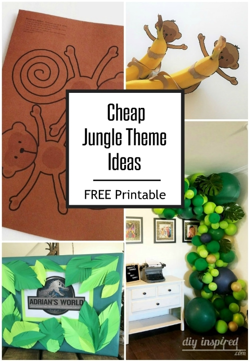 Cheap jungle party themed ideas