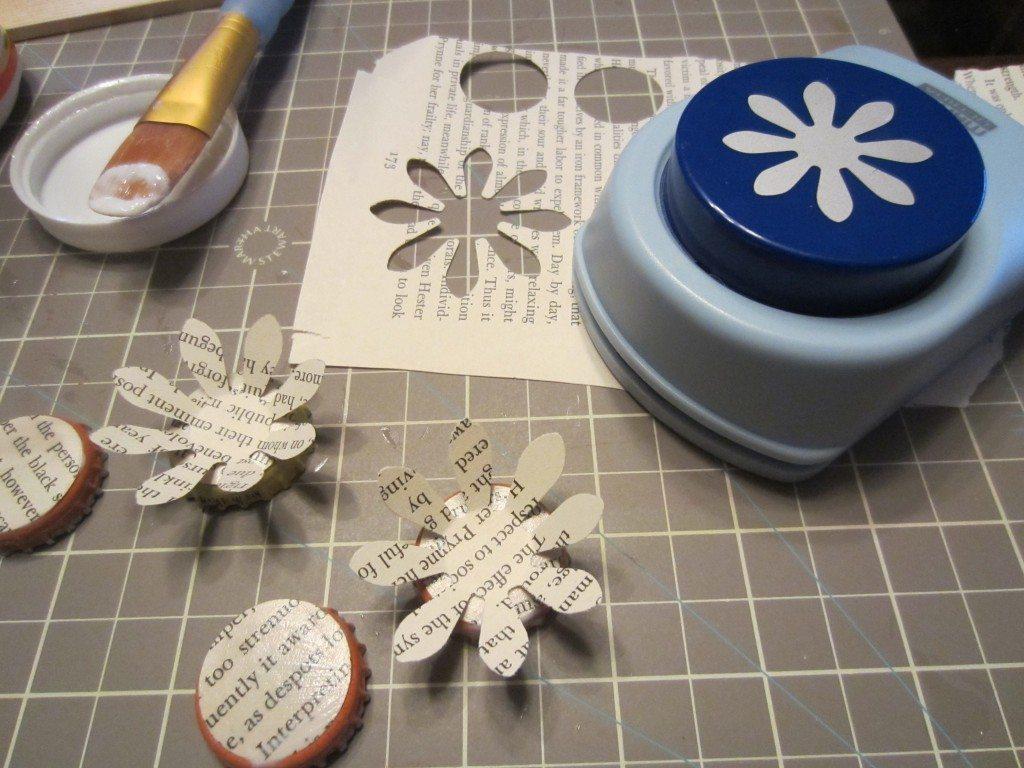 Paper Flower Magnets Diy Inspired