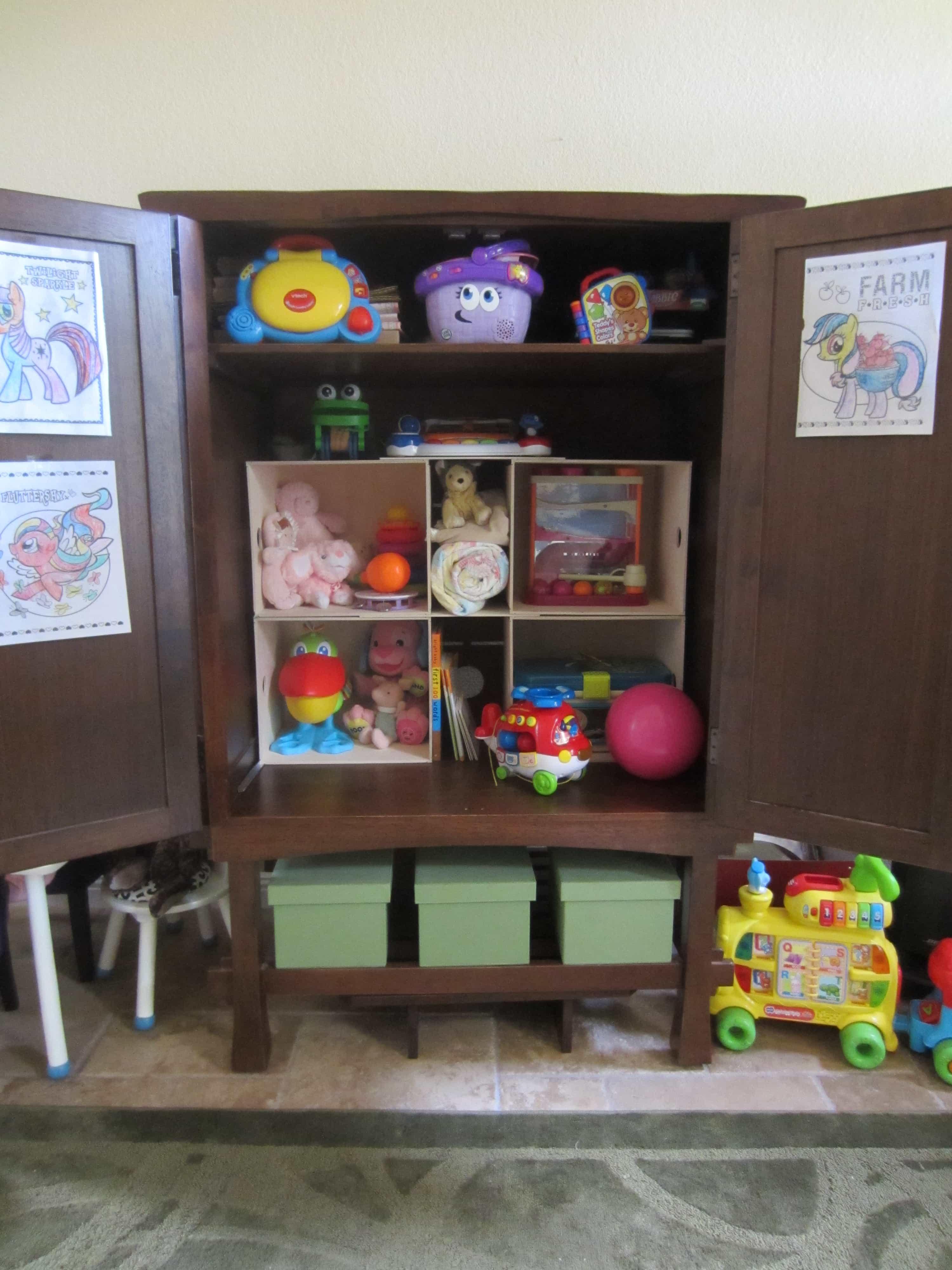 Repurposed Media Cabinets