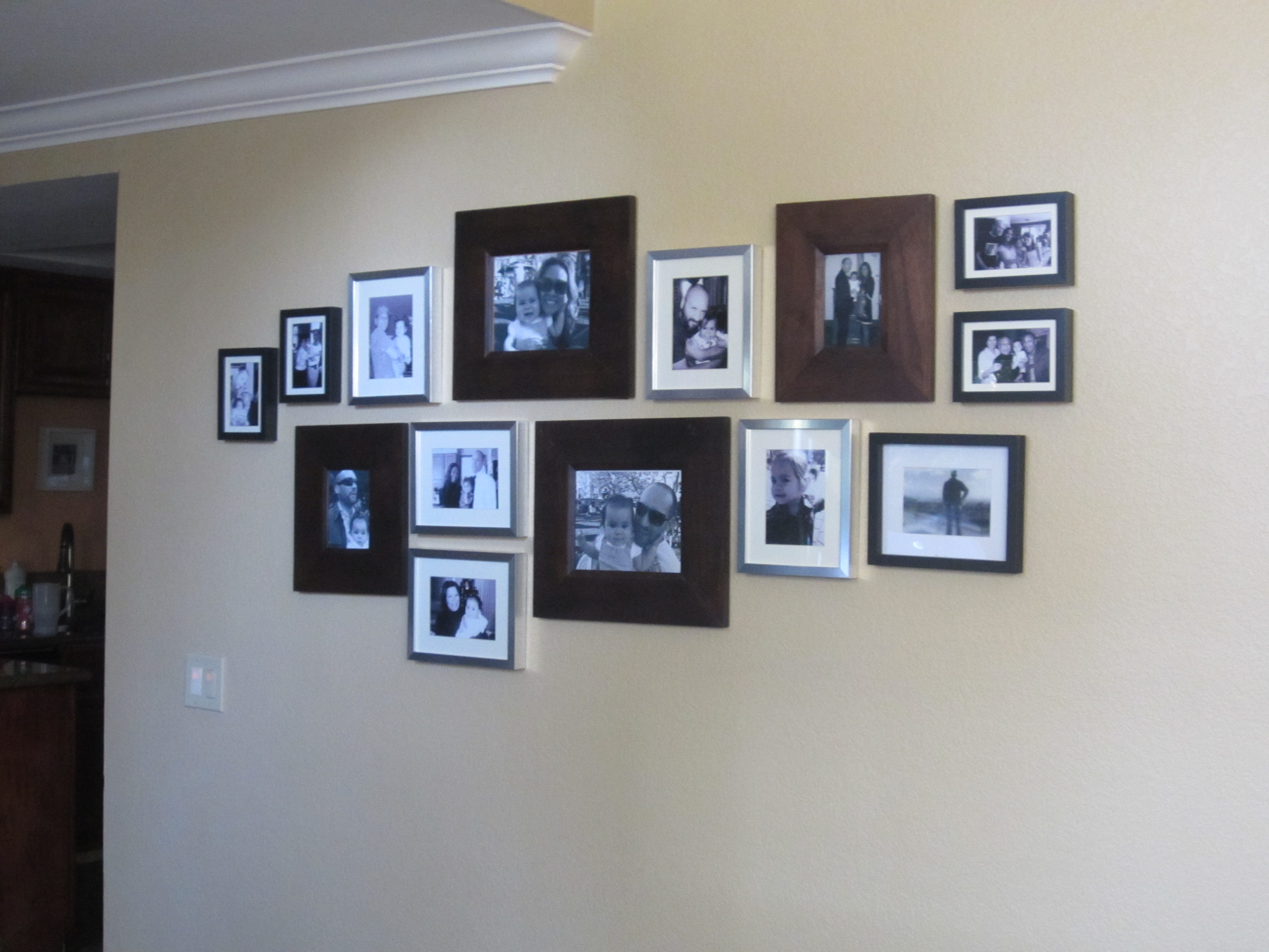 Family photo wall diy inspired - Pictures to hang on wall ...