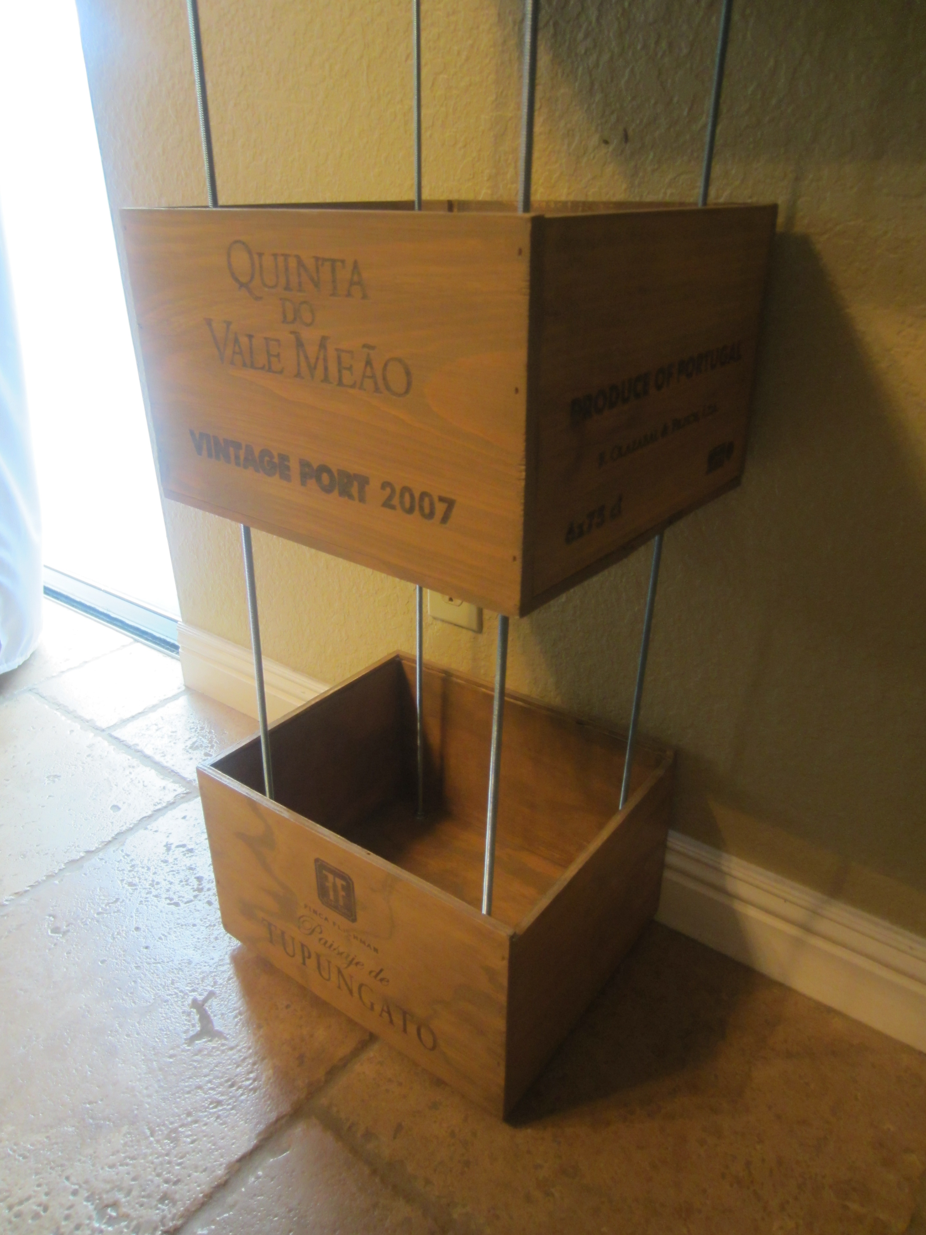 Wine Crate Shelves - DIY Inspired