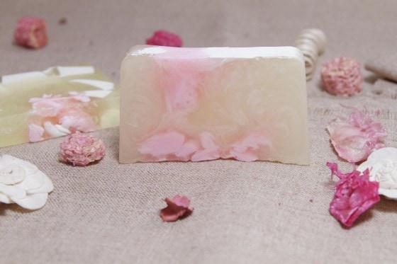 Making Rose Soap