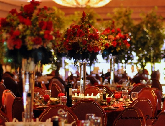 Elegant Black and Red Anniversary Party