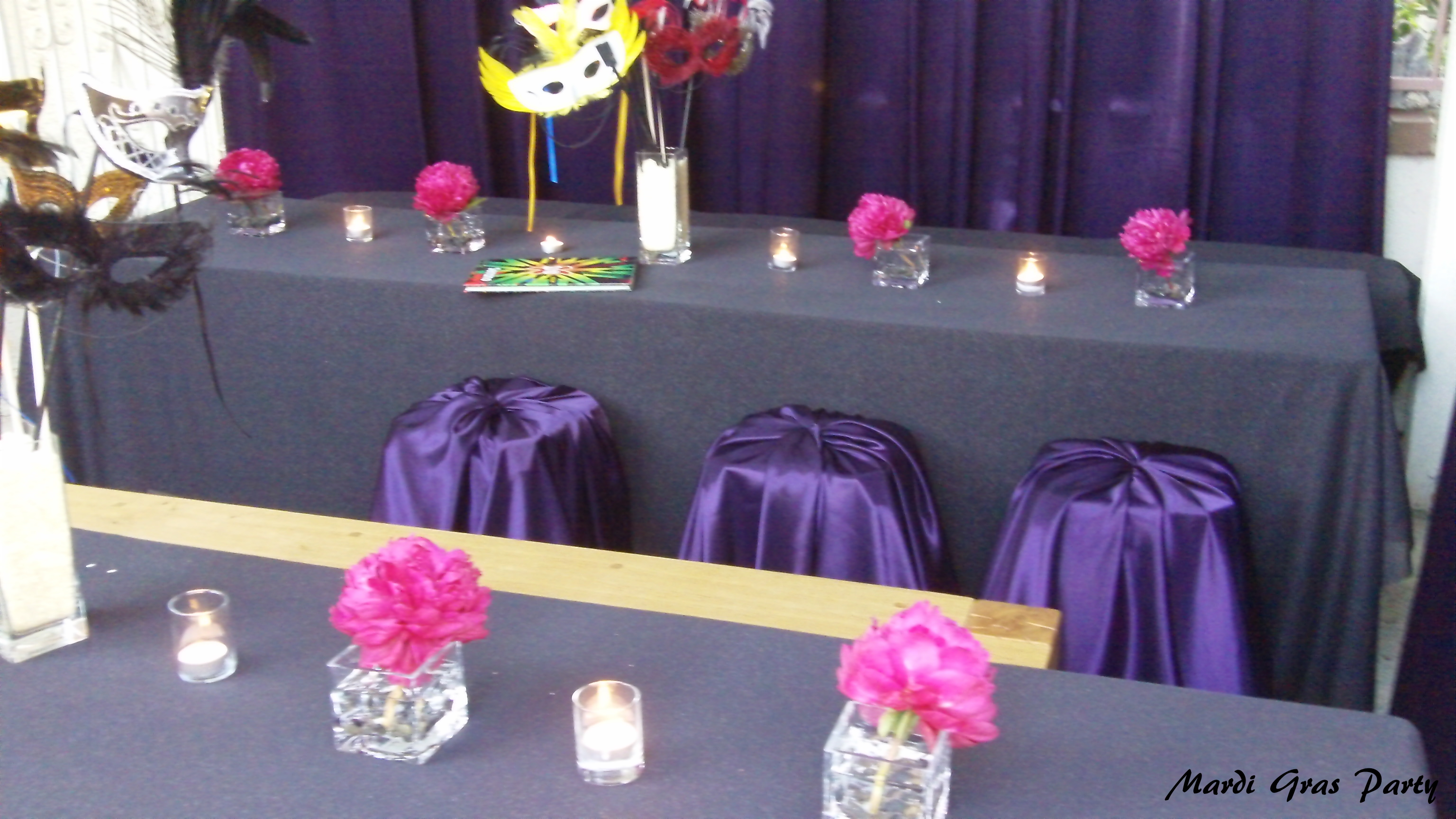 Purple and Pink Masquerade Party - DIY Inspired