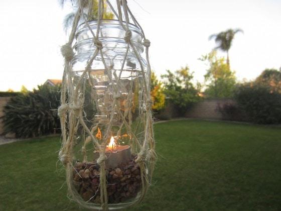 Recycled Mason Jar Lantern