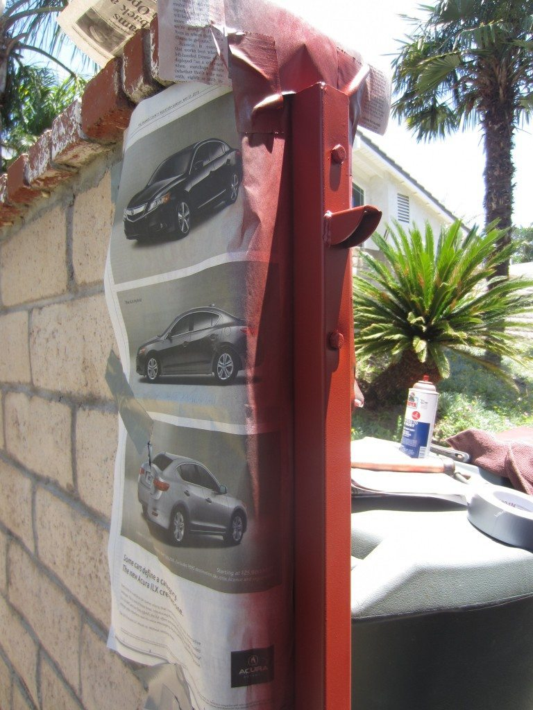 Painting Rusty Metal Outdoor Furniture