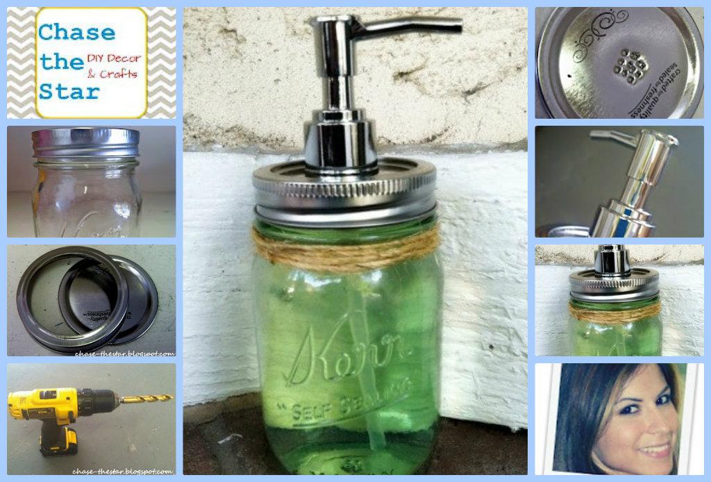 Mason Jar Soap Dispenser - DIY Inspired