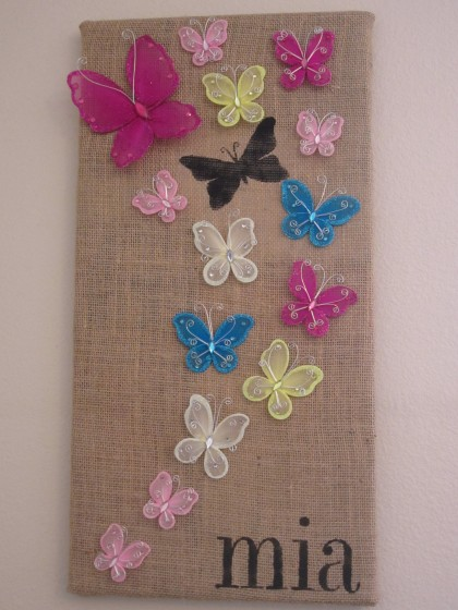 Stenciled Butterfly Wall Art
