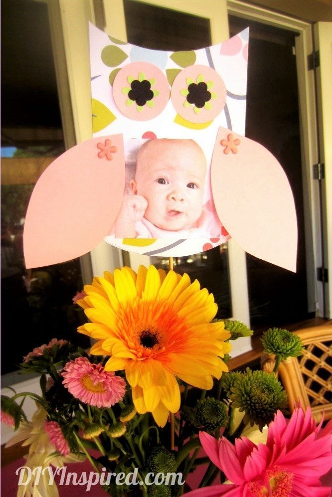Cute DIY Paper Owl Party Centerpiece Idea