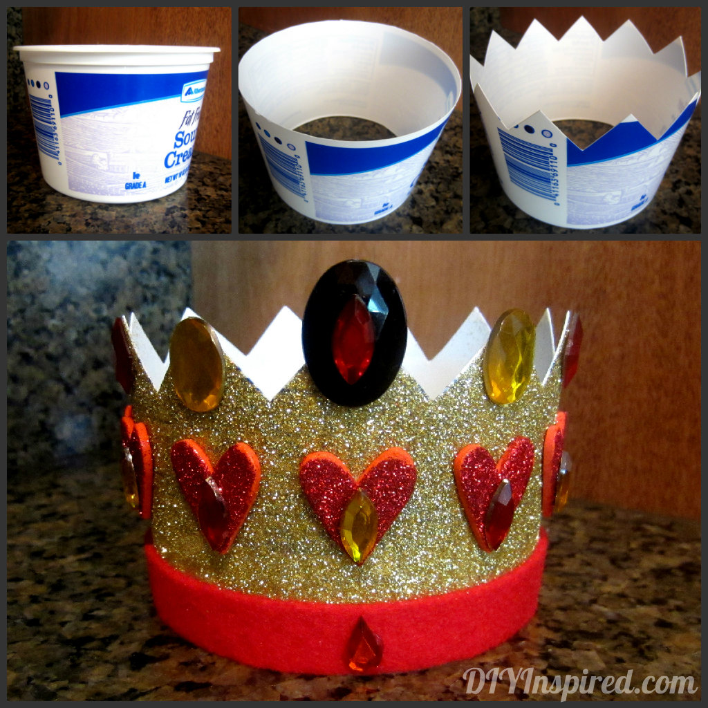 Recycled Plastic Container Crown Diy Inspired