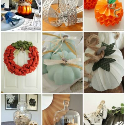 DIY Pumpkin Inspiration Ideas and Tutorials