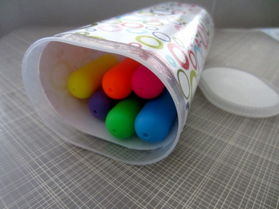Recycled Plastic Container Pencil Box