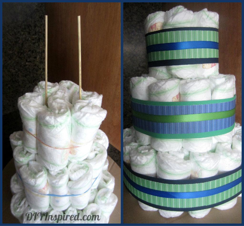 Diaper Cake And Diaper Cupcakes