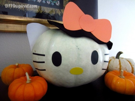 Hello Kitty Pumpkin How To