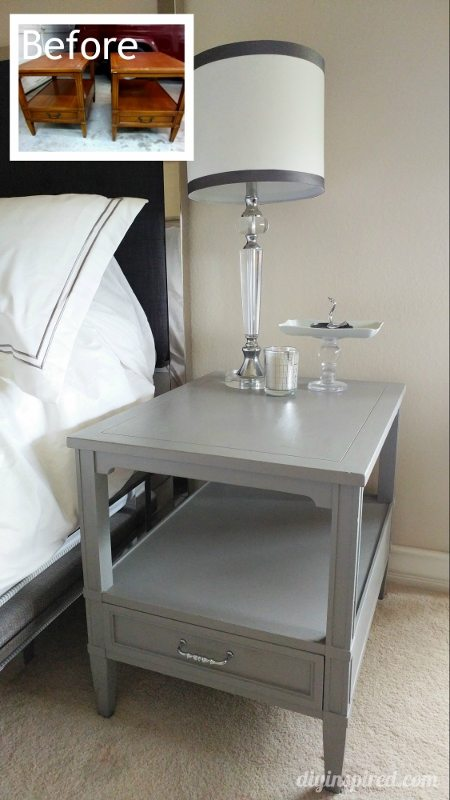 Garage Sale Bedside Tables Makeover - DIY Inspired
