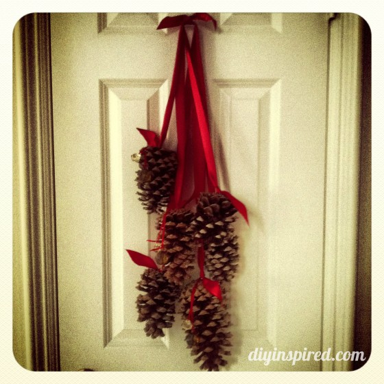 Hanging Pine Cone Decoration