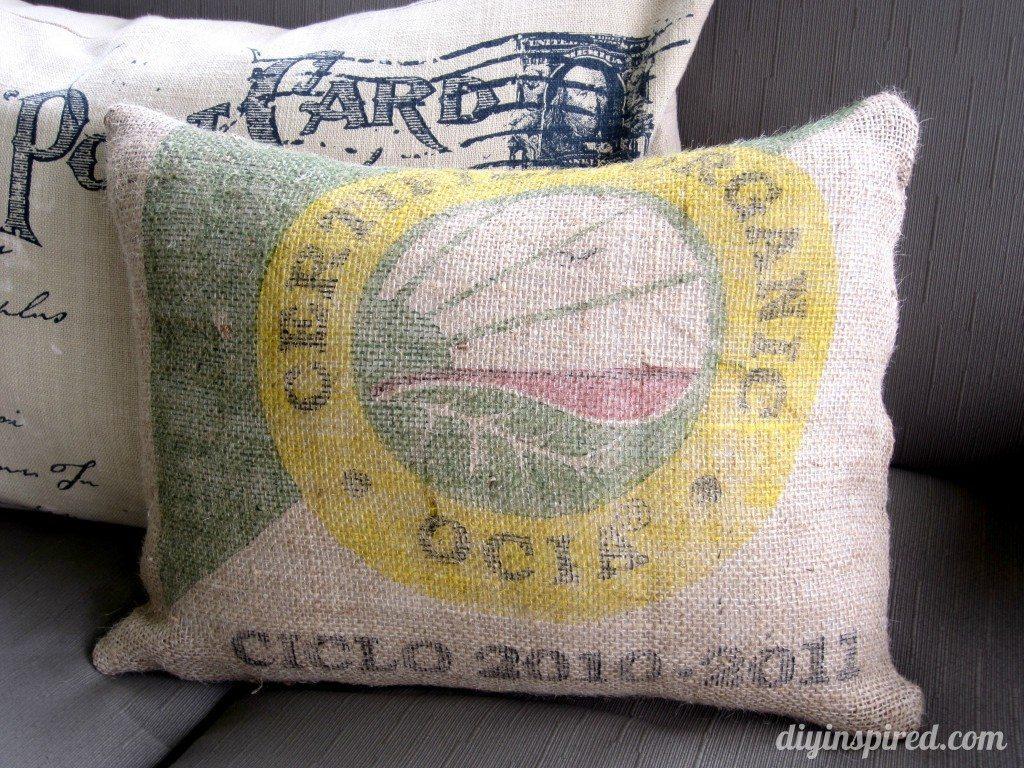 Burlap Sack Pillow