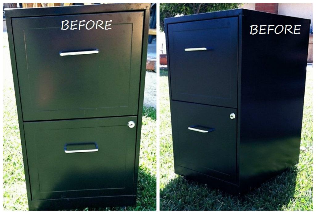 Metal File Cabinet Makeover Diy Inspired