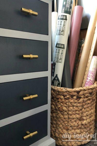 Craft Room Storage - Basket for Rolls of Paper