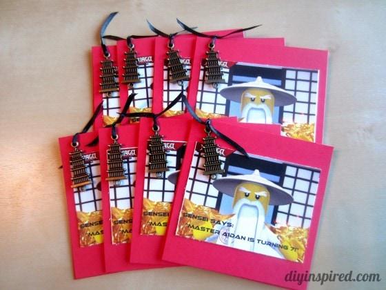 DIY Ninjago Birthday Invitations