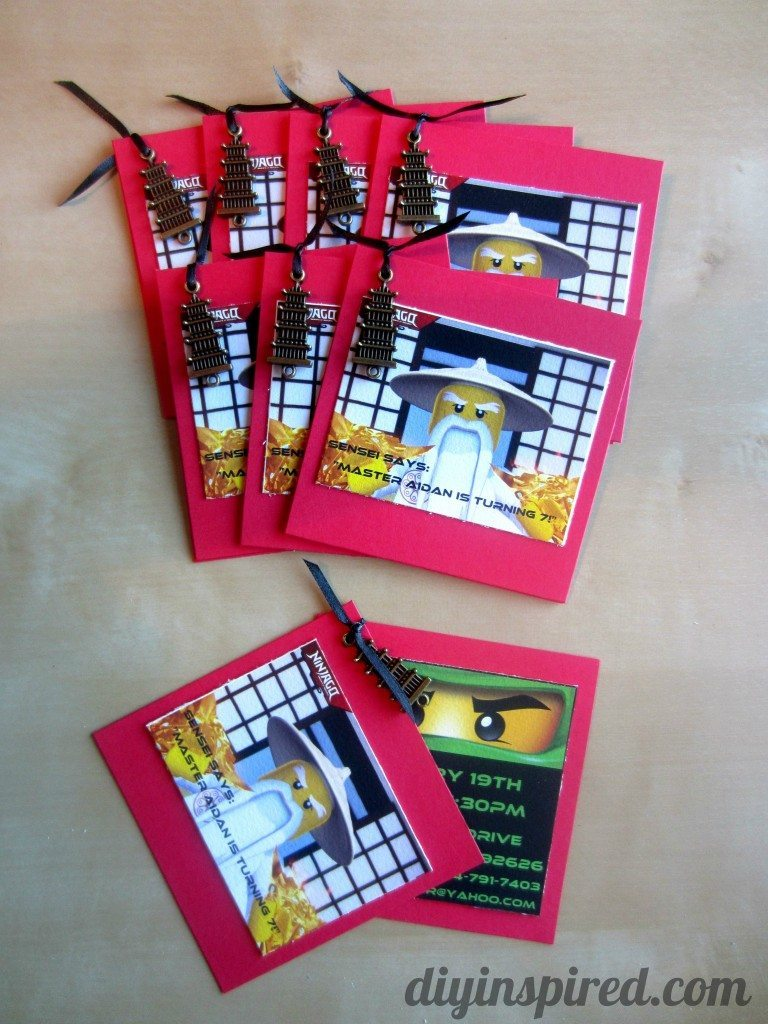 DIY Ninjago Birthday Invitations (2)