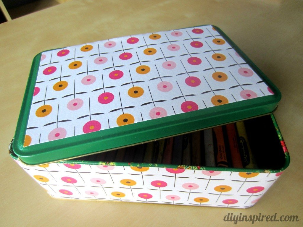 Recycled Christmas Cookie Tin (8)