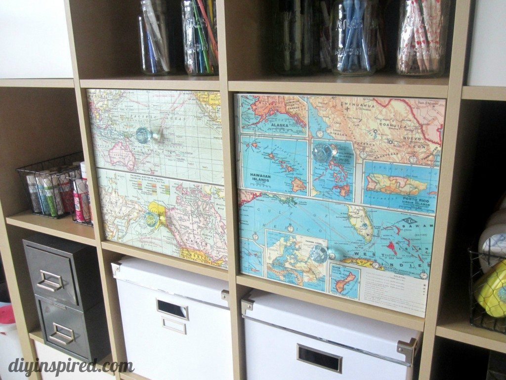 Recycled Map Drawer Makeover (9)