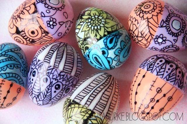 Sharpie plastic eggs