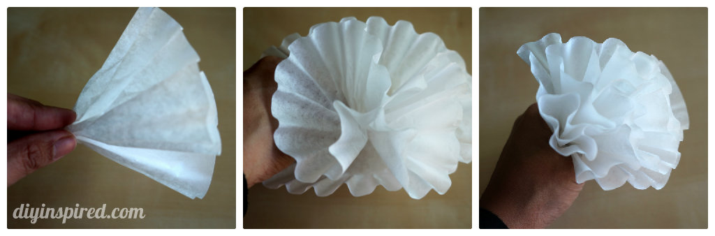 How to make easy coffee filter paper flowers plus how to color coffee filters.