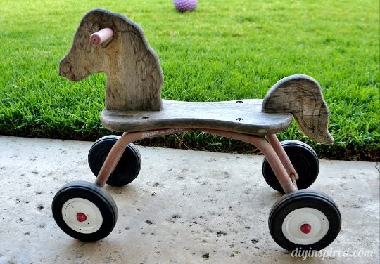 Refurbished Radio Flyer Wooden Toy Horse