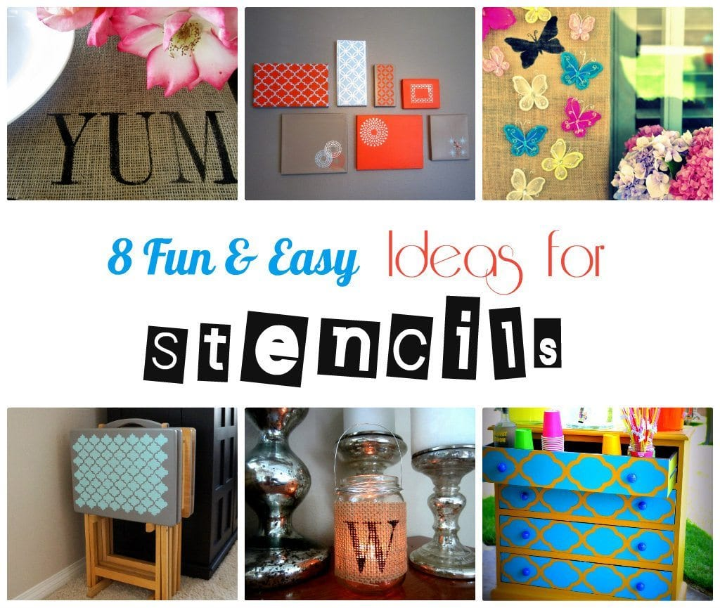 8 Fun and Easy Ideas for Stencils