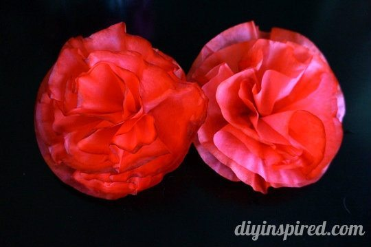 Alice in Wonderland Theme Party: Red Paper Flowers