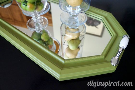 DIY Serving Tray: A Mirror Makeover