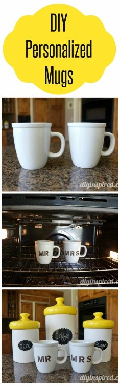 DIY Personalized Mugs with Tutorial