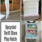 Upcycled Thrift Store Play Hutch for Kids