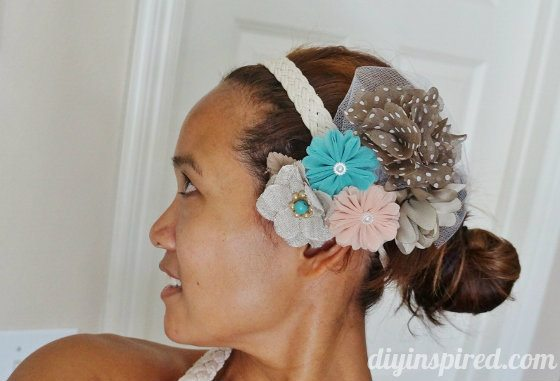 DIY Flower Cluster Headpiece