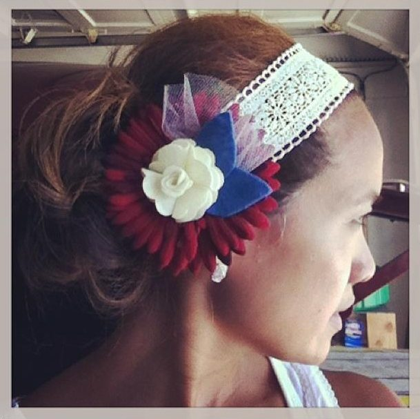 Quick and Easy Flower Headpiece