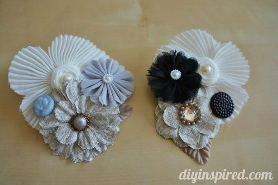 DIY Fabric Flower Barrette
