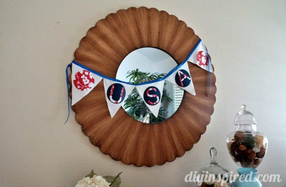 Recycled T Shirt Fourth of July Bunting
